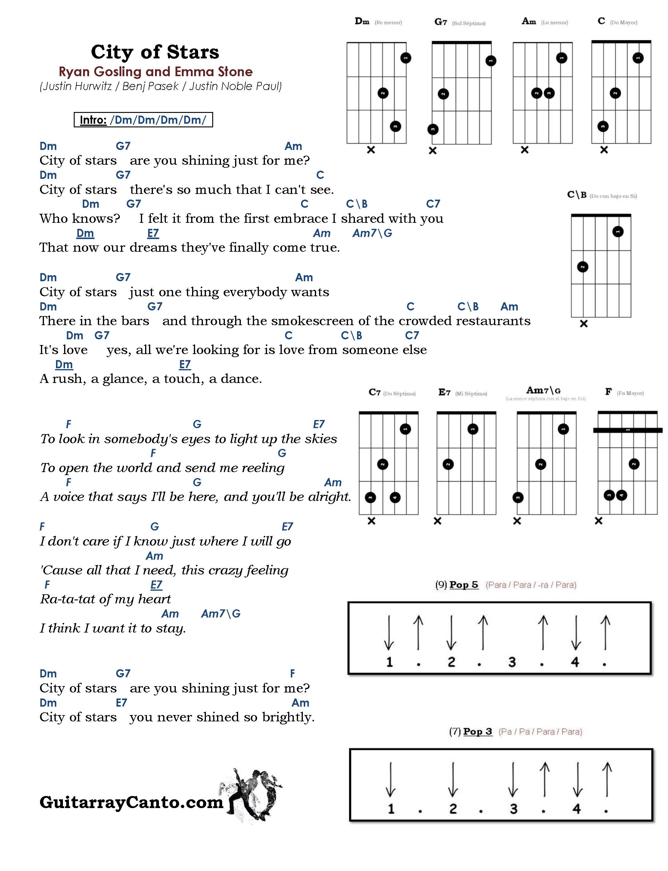 city of stars chords